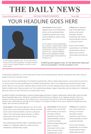 Newspaper Template For Word  Newspaper Template