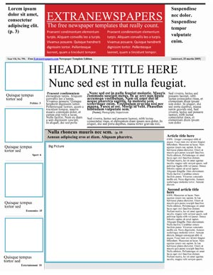 Free newspaper template pack for word perfect for school 6 news paper front saigontimesfo