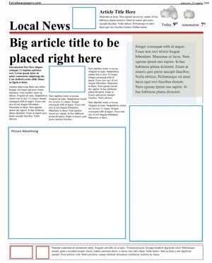 free newspaper template pack for word perfect for school. Black Bedroom Furniture Sets. Home Design Ideas