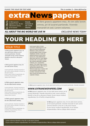 School Newspaper Template Archives  Extranewspapers