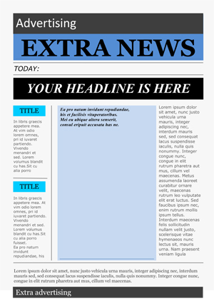 Free Newspaper Template Pack For Word Perfect For School